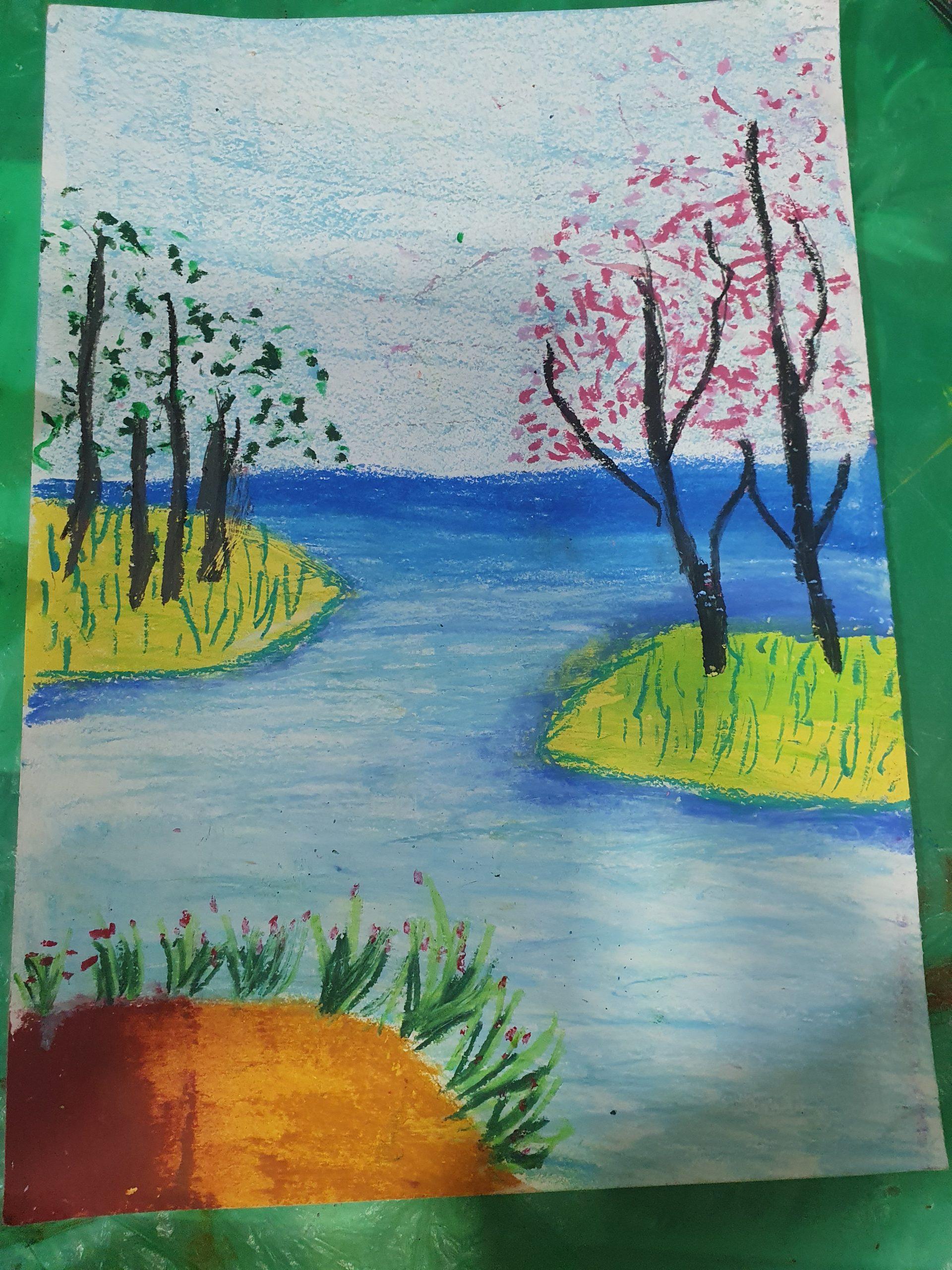 Hommeet Oil pastel classes for kids
